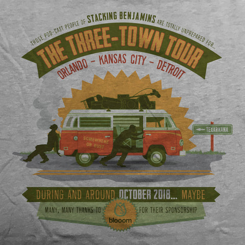 Three-Town Tour tee