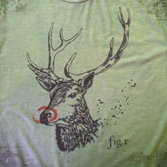 Rudy Reindeer tee - The Flying Pork Apparel Co.
