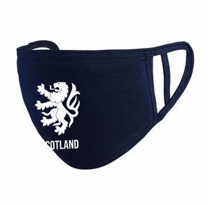 Scotland Lion Rampant Face Mask Navy - The Scot Box