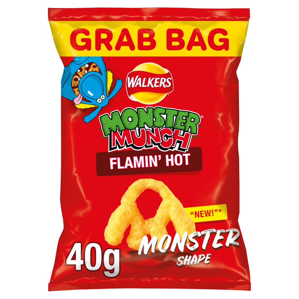 Walkers Monster Munch Flamin' Hot - Grab Bag 40g