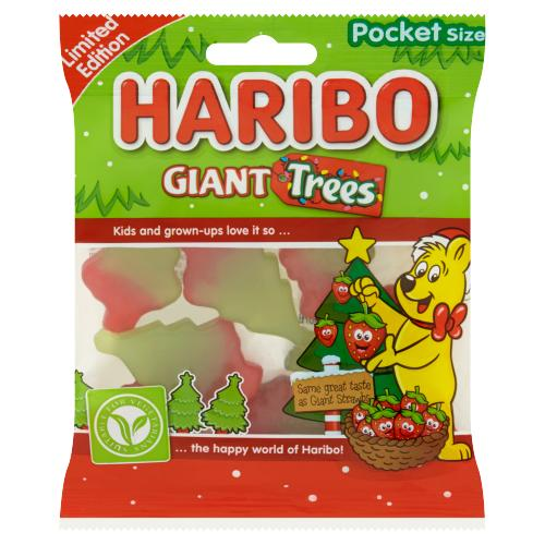 Haribo Giant Trees - Christmas Limited Edition - Pocket Size 70g