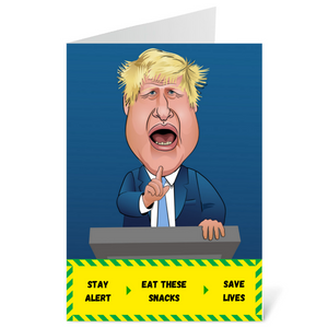 Boris Johnson Stay Alert Card