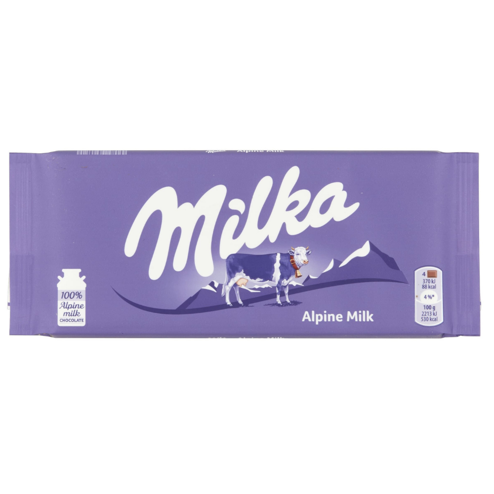 Milka Alpine Milk Chocolate Big Bar 100g