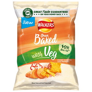 Walkers Baked Sweet Potato with Paprika Snacks 35g BBE: 19/12/20
