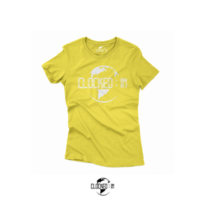 WOMEN CLOCKED IN LOGO TEE