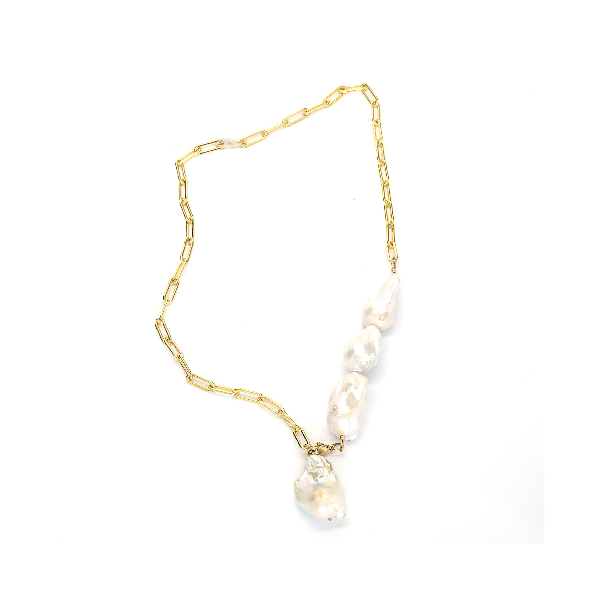 Baroque Pearl Lariat Necklace