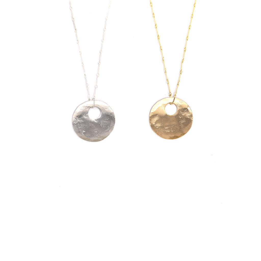 Gold and Silver Bullet Hole Necklaces
