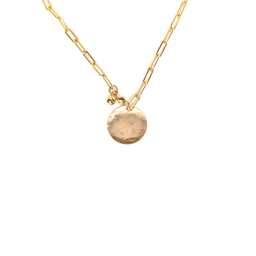 Gold Disk Necklace