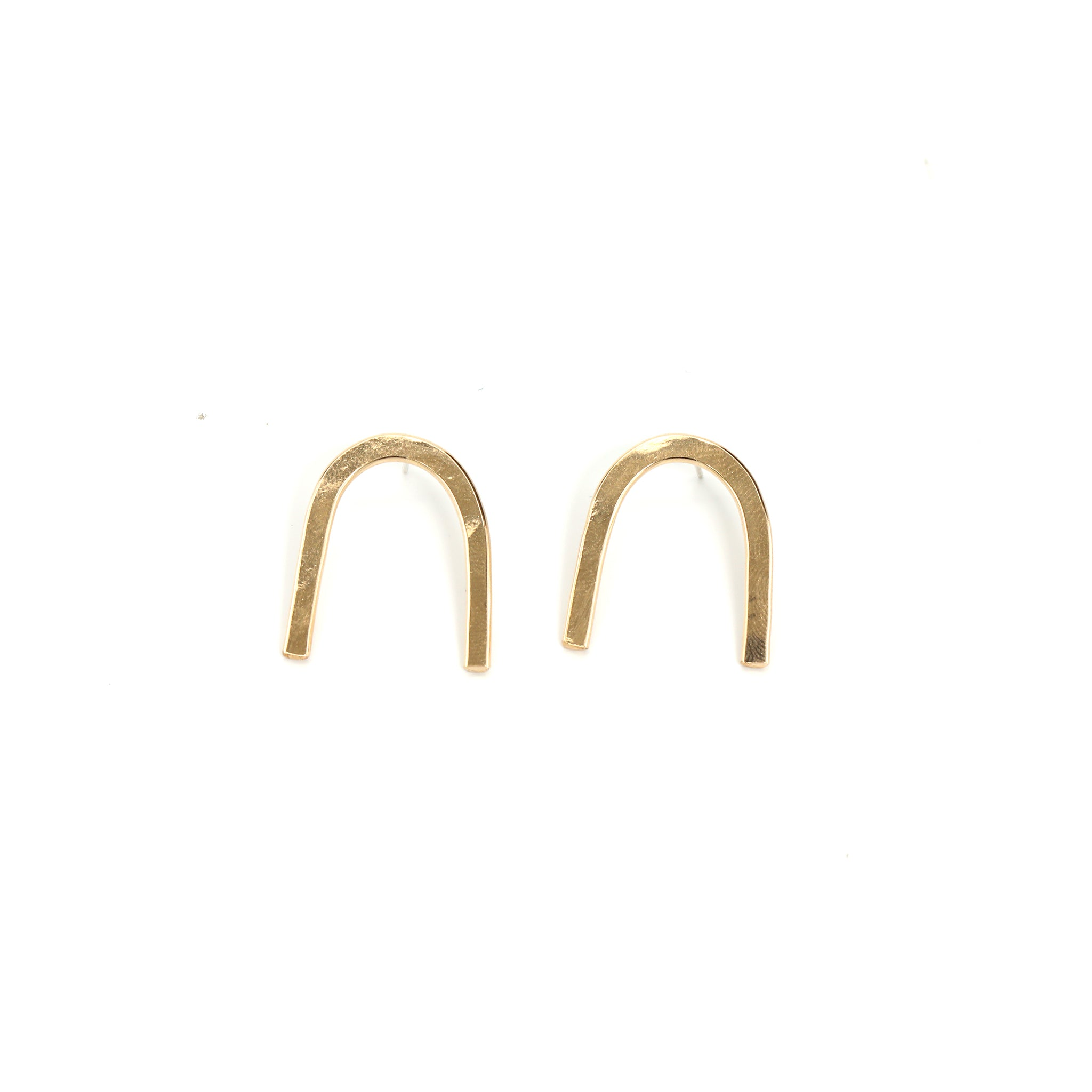 Gold Arc Earrings