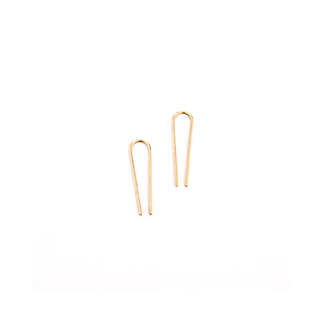 Mini Teardrop 14k earrings