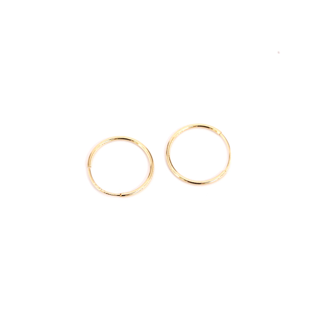 14k Fine Small Hoop Earrings