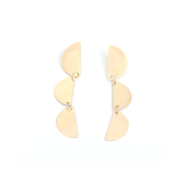 Triple Half Moon Earrings