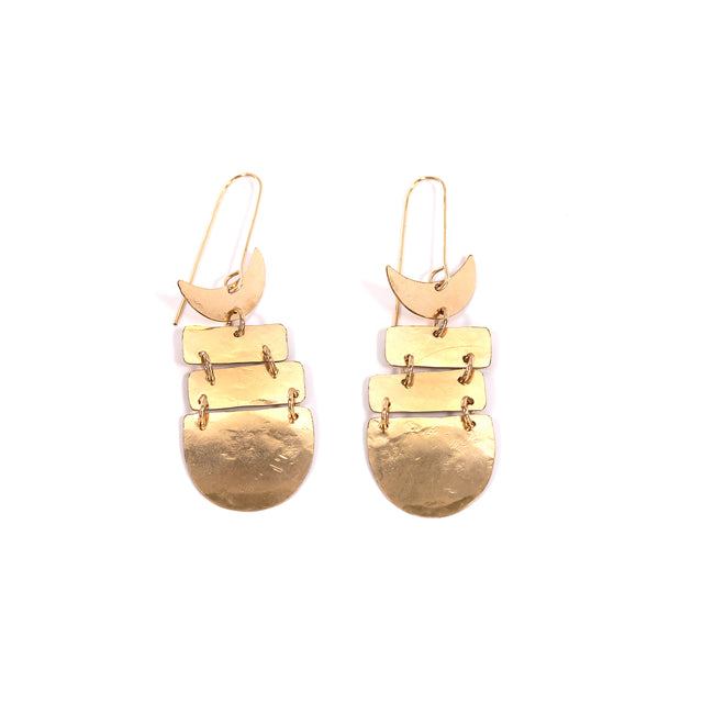 Gold Fish Bone Earrings