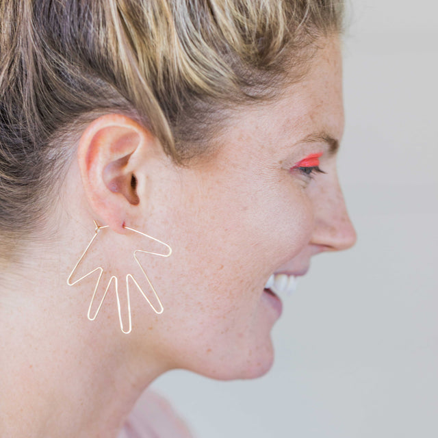 Hand Slider Earrings Delicate