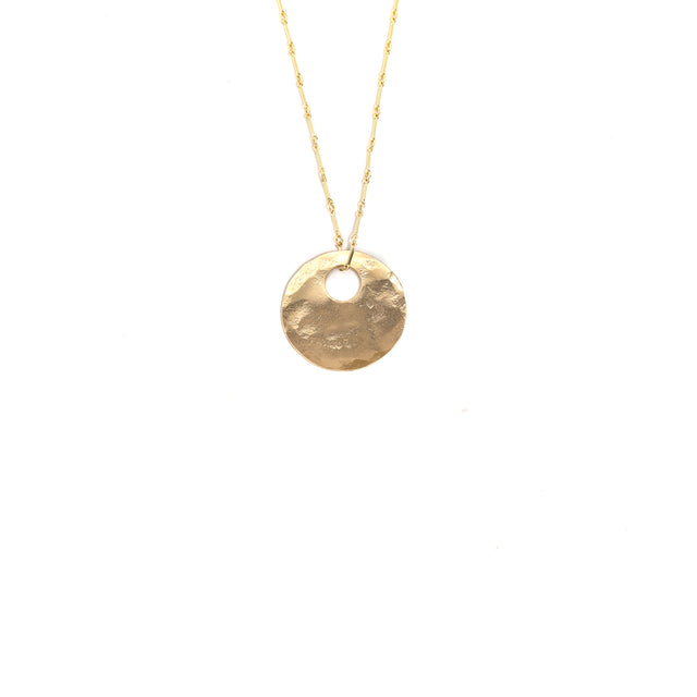 Gold Bullet Hole Necklace