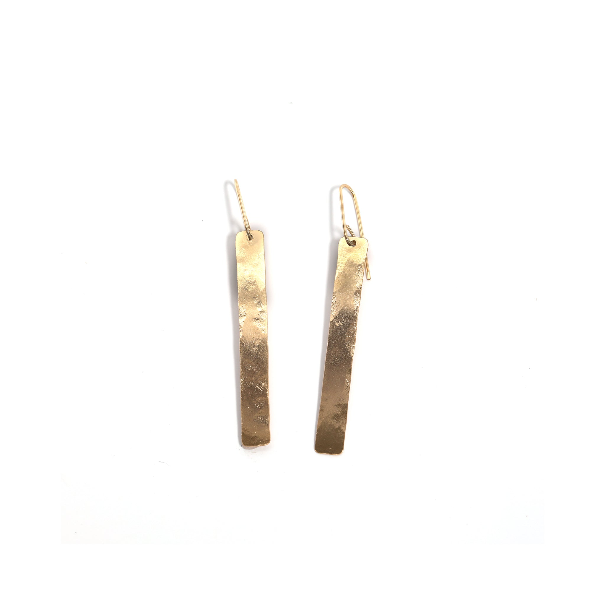 Industrial Gold Bar Earrings