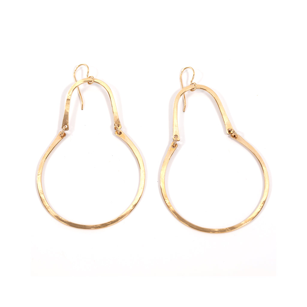 Gold Gourd Earrings