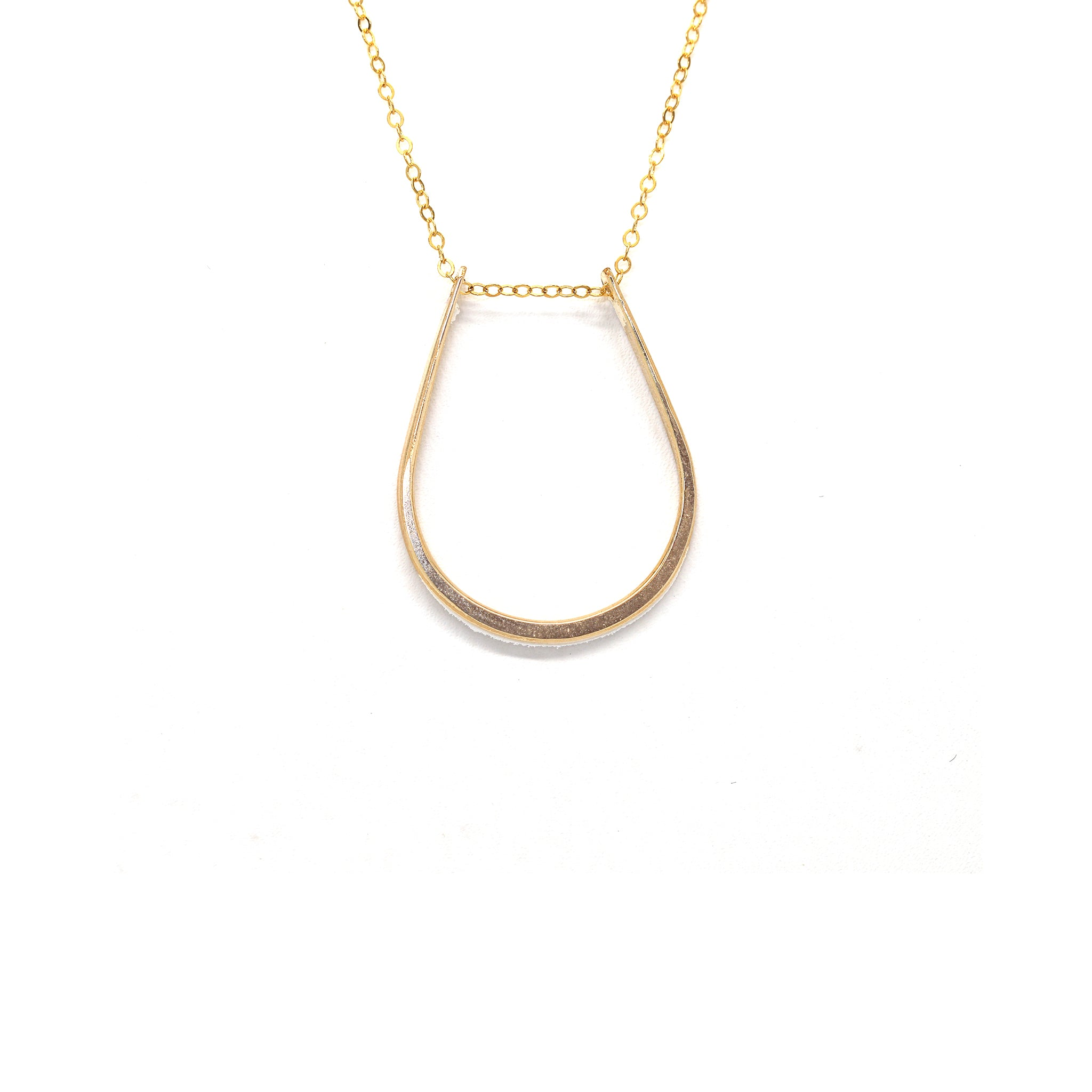 Goldbug Delicate Horseshoe Necklace