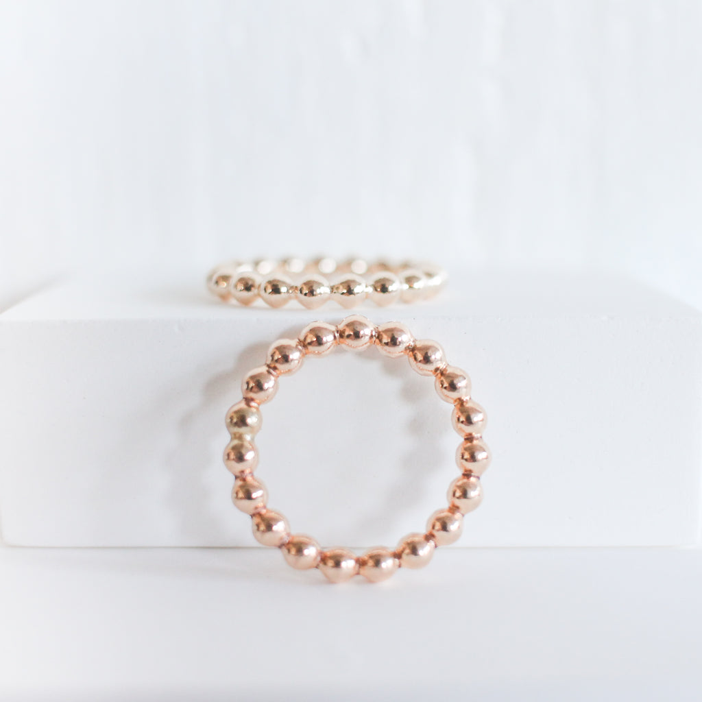 Thick Beaded Stackable Ring