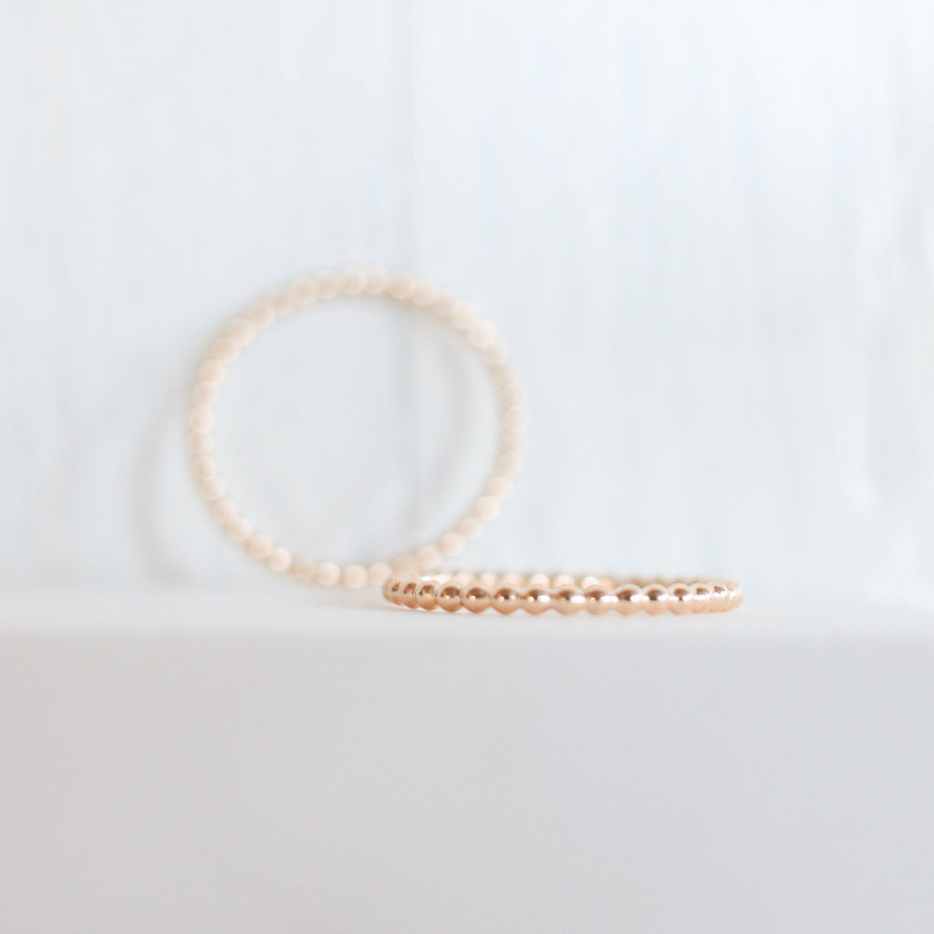 Thin Beaded Stackable Ring