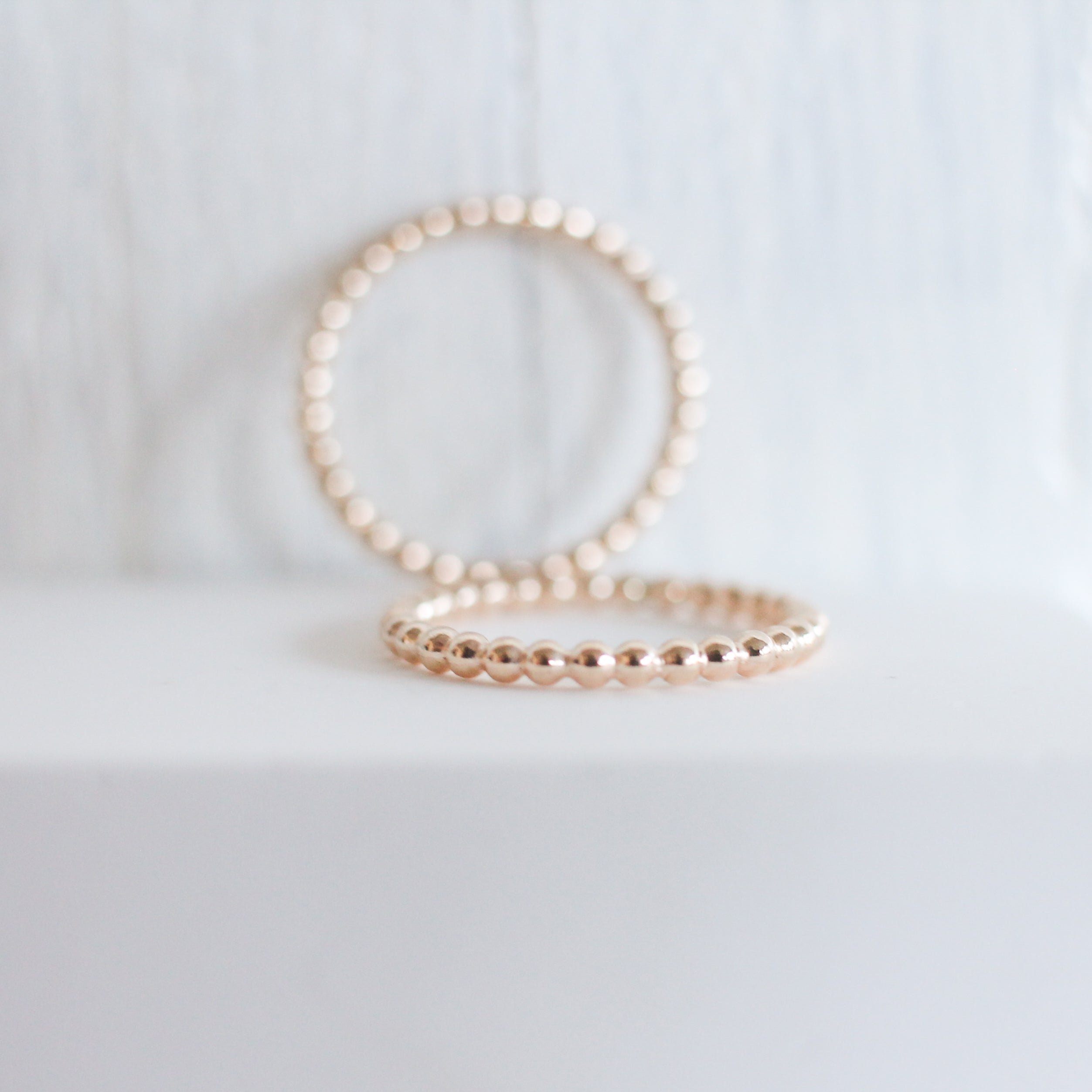 Medium Beaded Stackable Ring