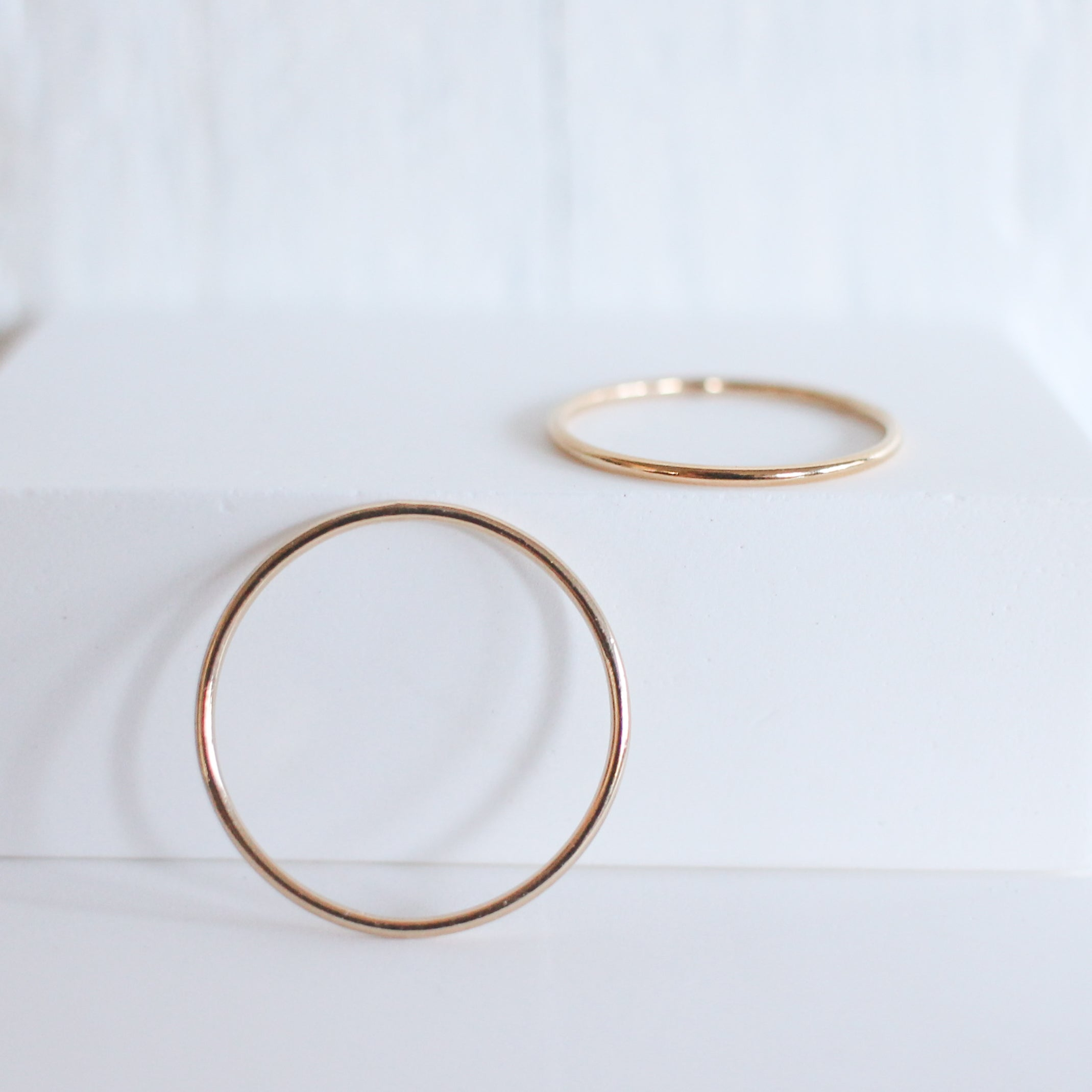 Thin Smooth Stackable Ring