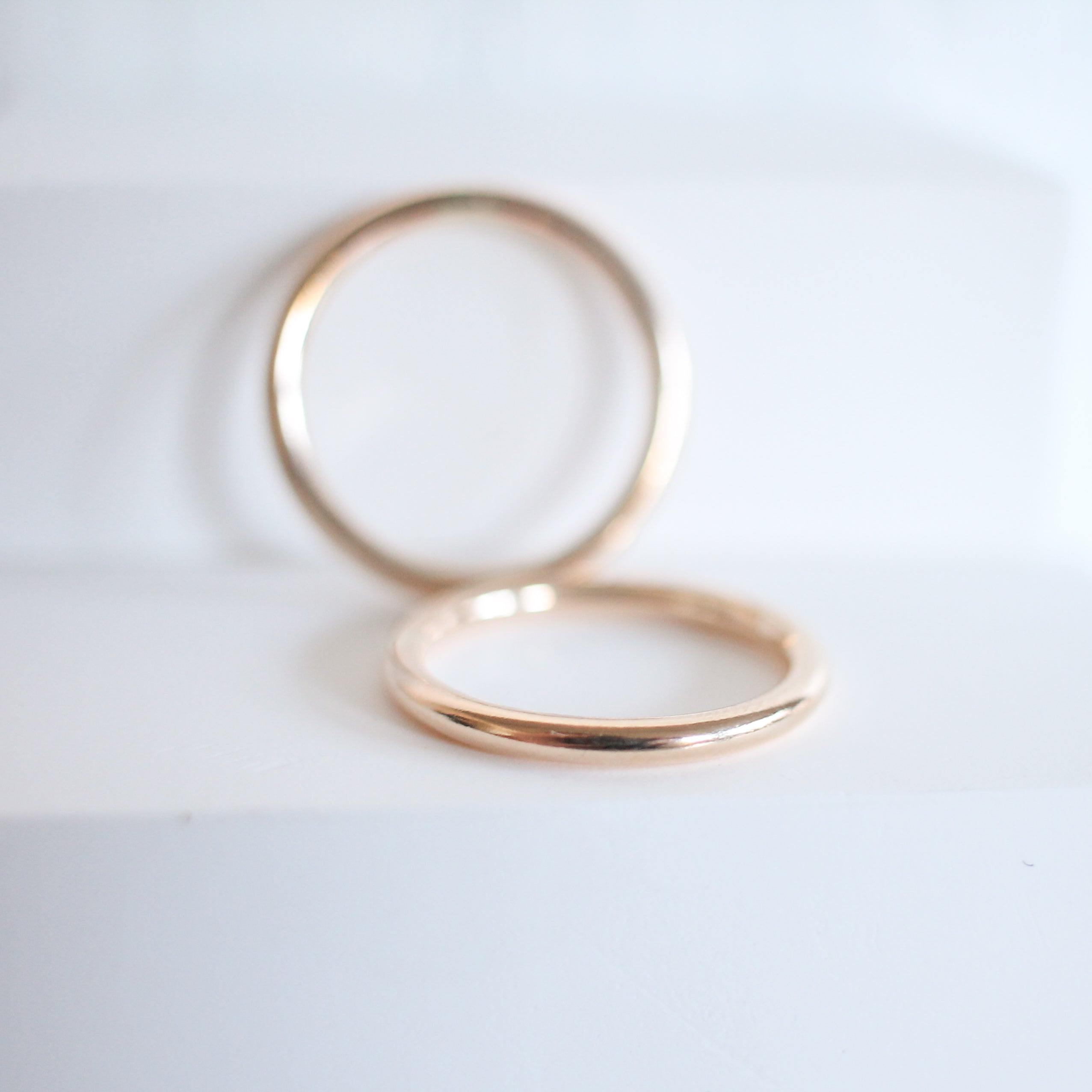Thick Smooth Stackable Ring
