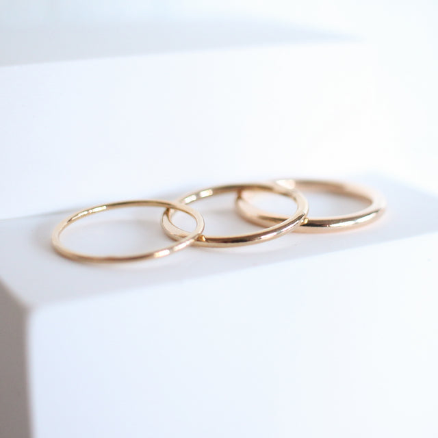 Medium Smooth Stackable Ring