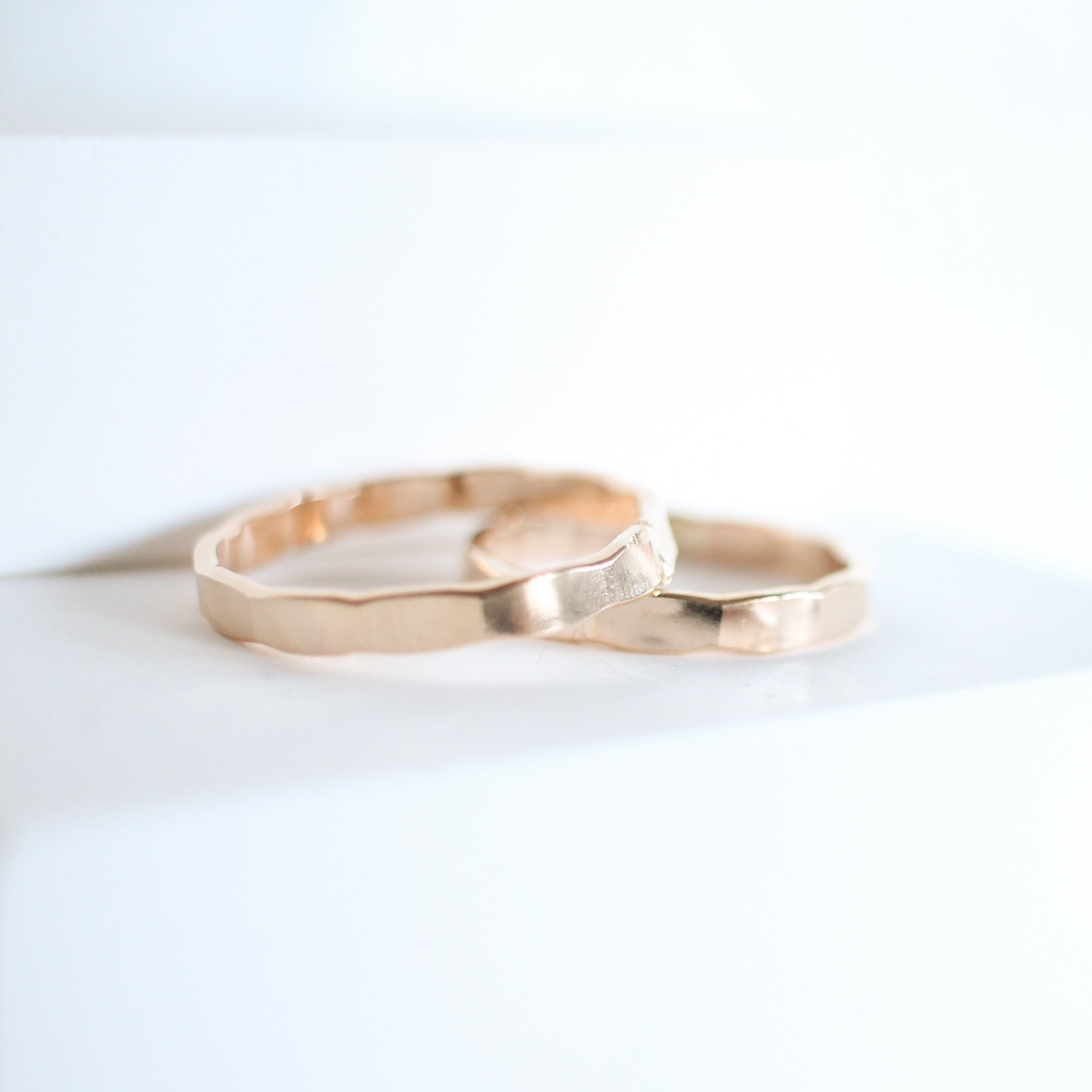 Medium Hammered Stackable Ring