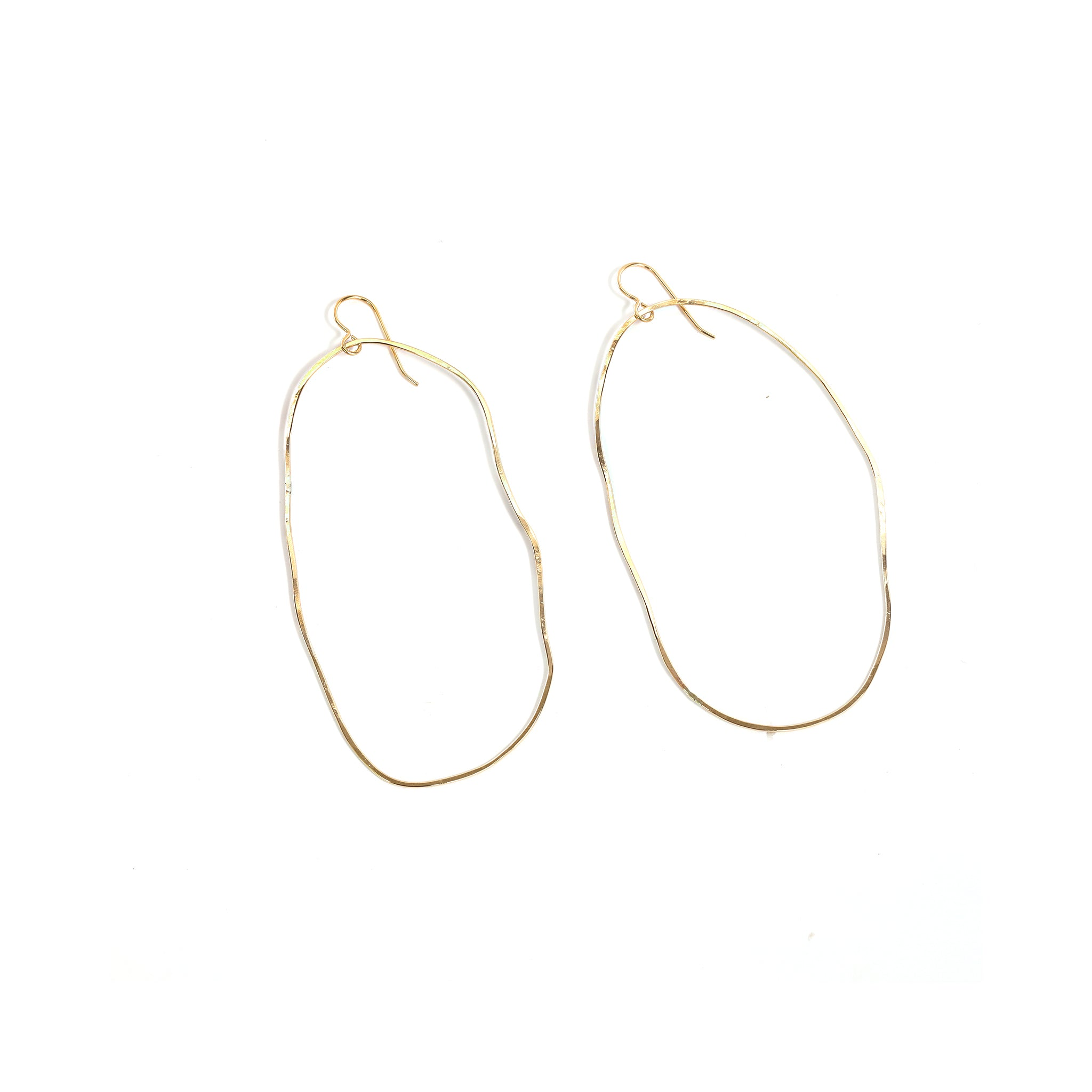 Gold Ink Blot Earrings