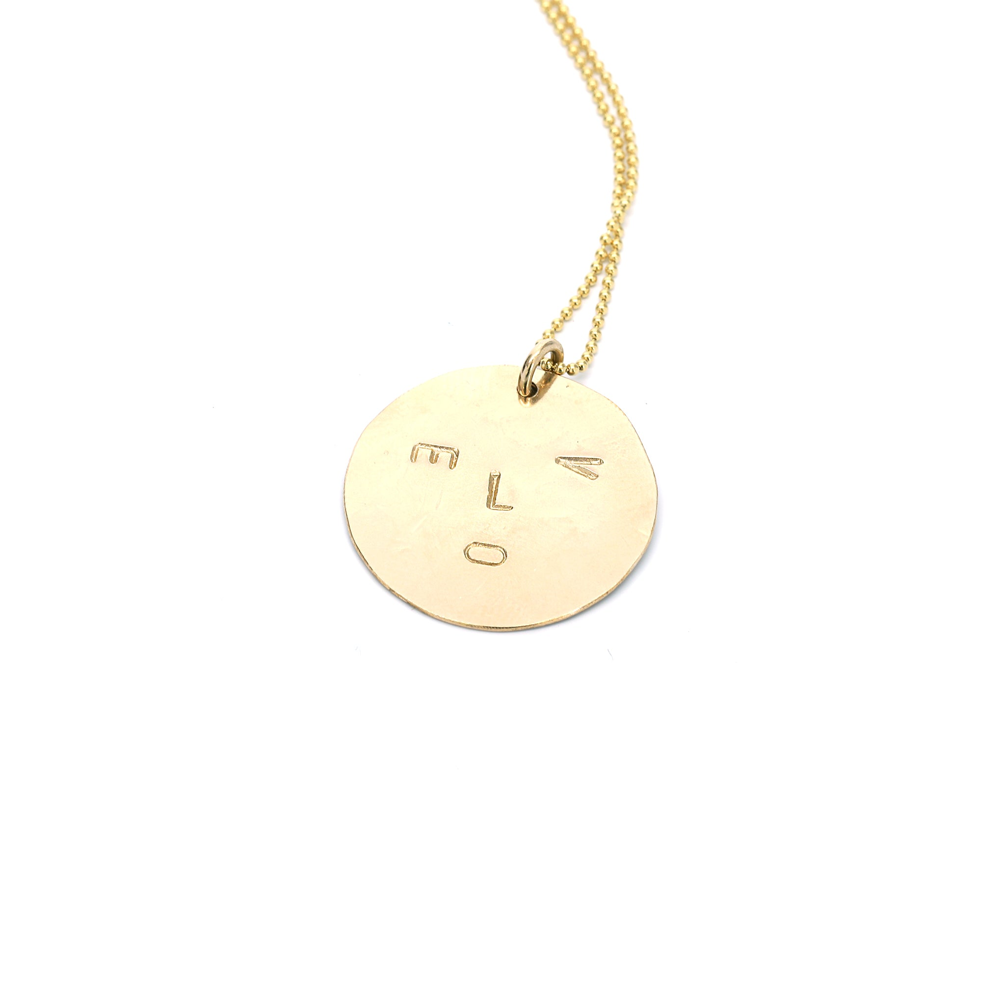 Goldbug Love Face Necklace