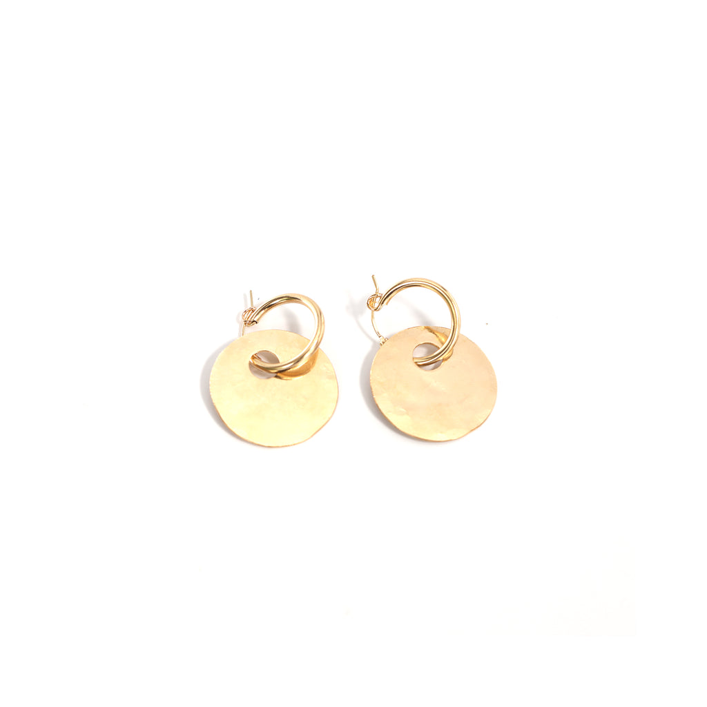 Modern Tribal Hoop Earrings Gold