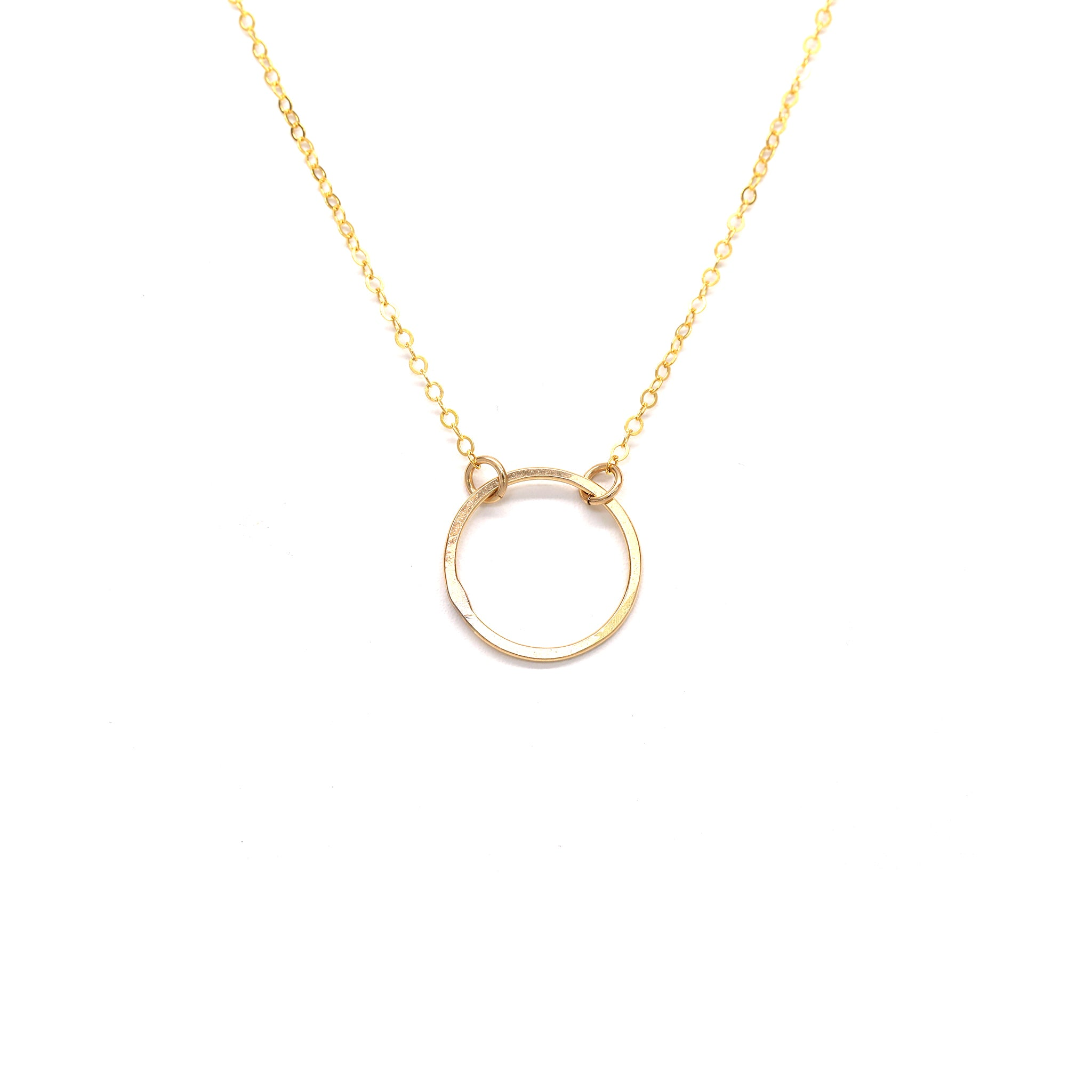 Goldbug Delicate Gold Circle Necklace