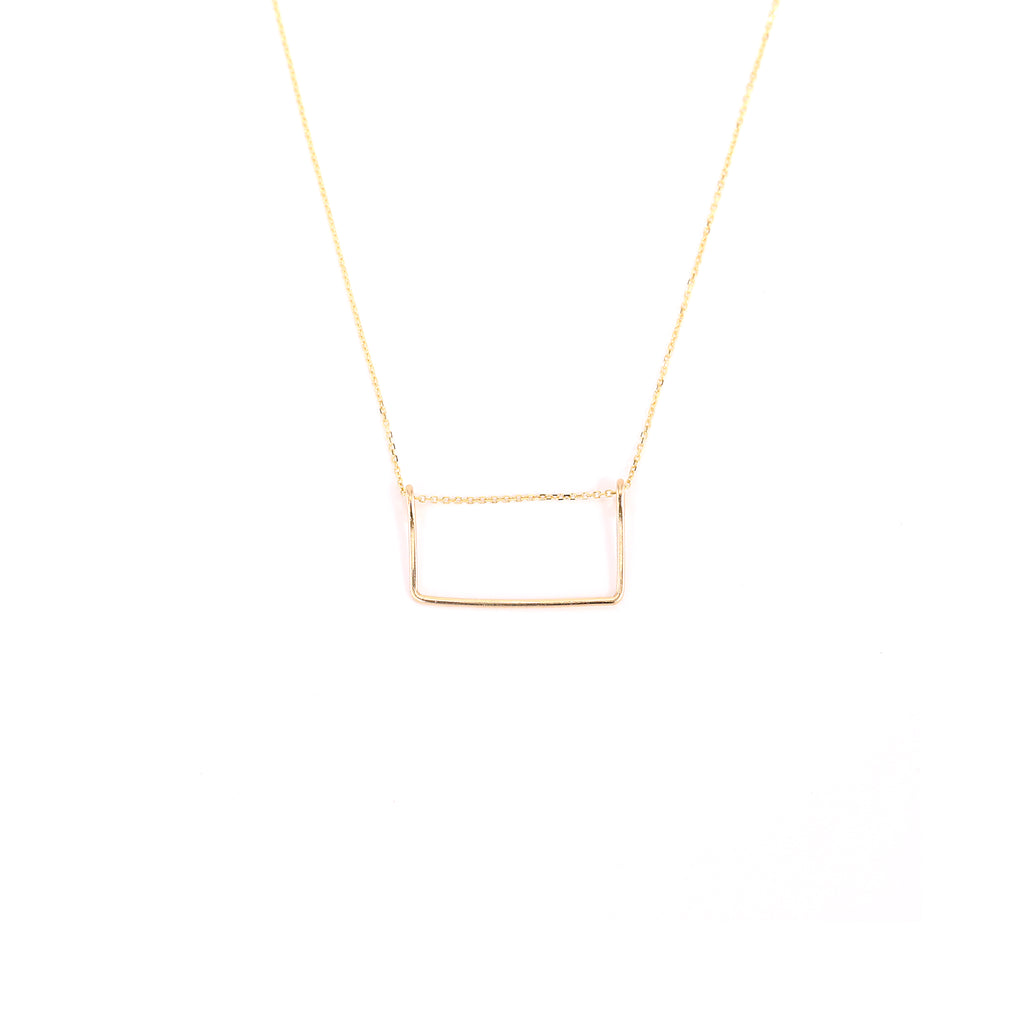 14k Fine Squared Necklace