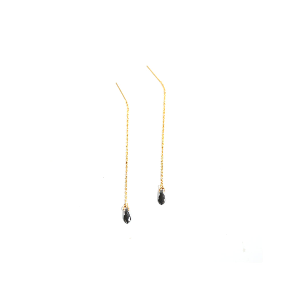 Pebble Threader Earrings