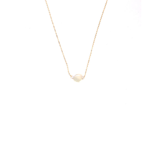 Single stone pearl necklace