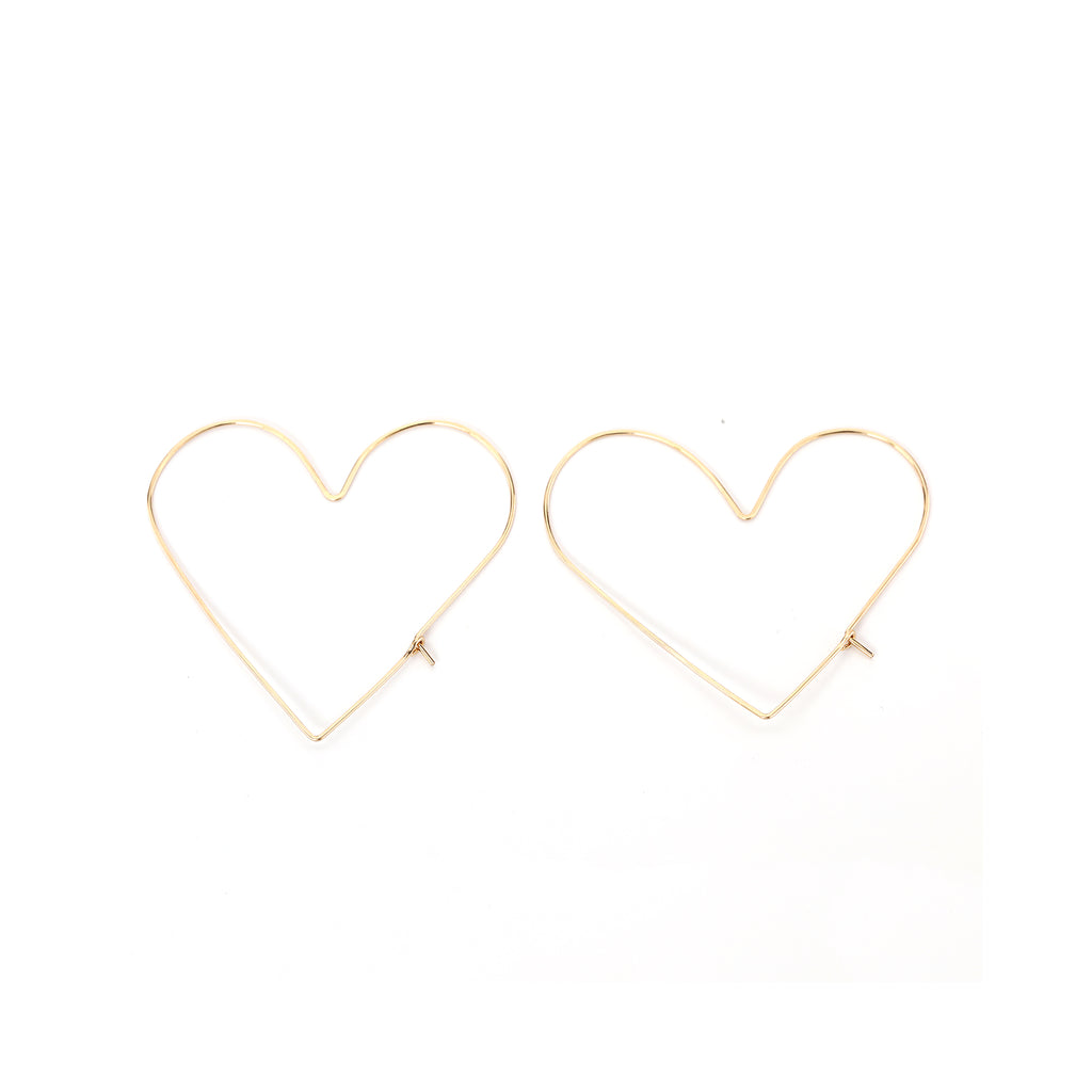 Delicate Heart Slider Earrings