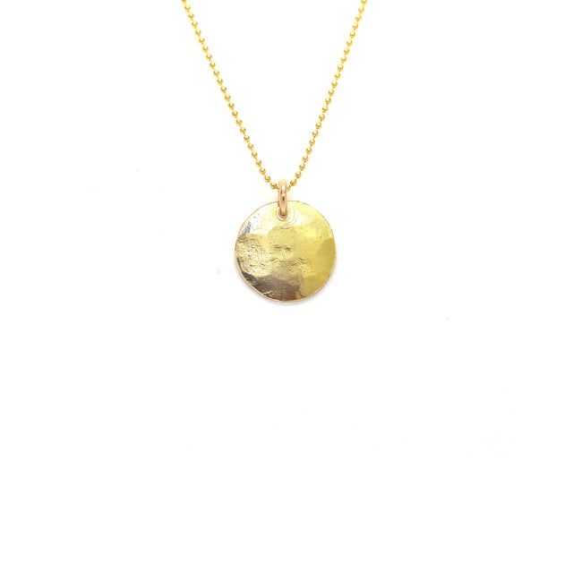 Small Disk Shape Necklace