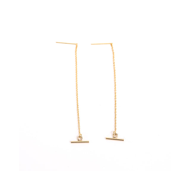 Long Toggle Threader Earrings