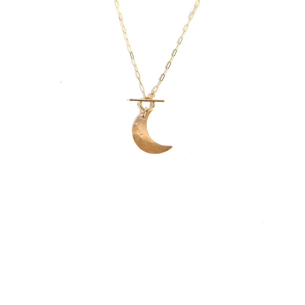Toggle Crescent Necklace