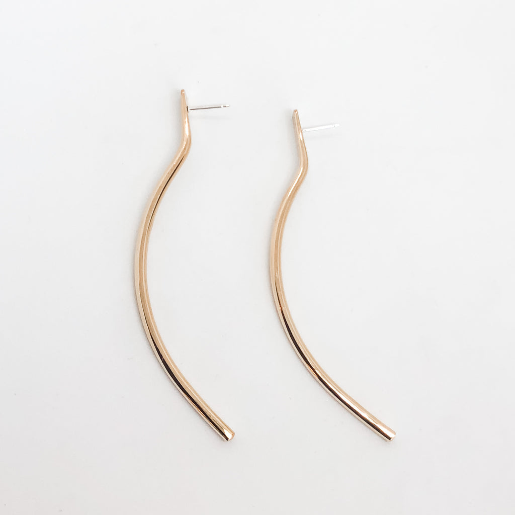 Long Bow Stud Earrings