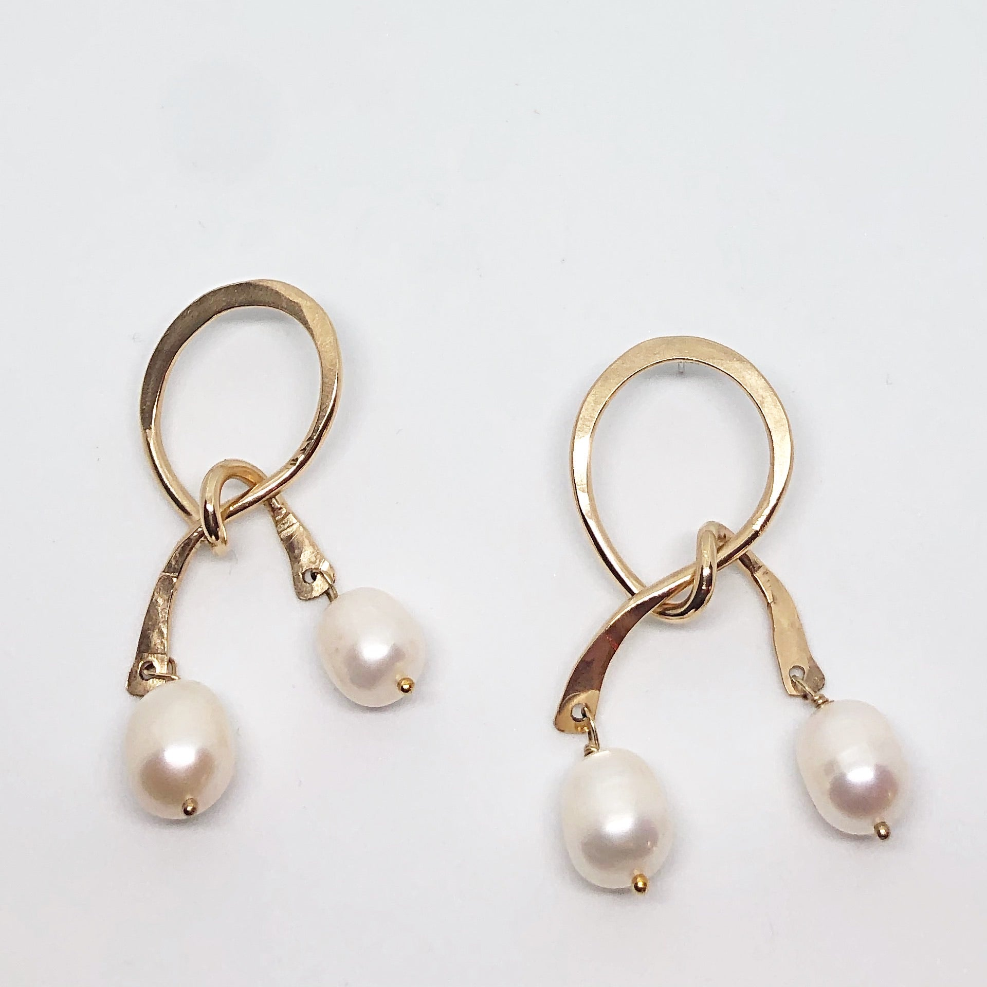 Pearl Drop Knot Earrings