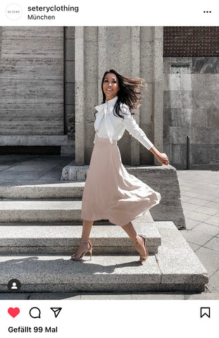 Blouse and skirt outfit