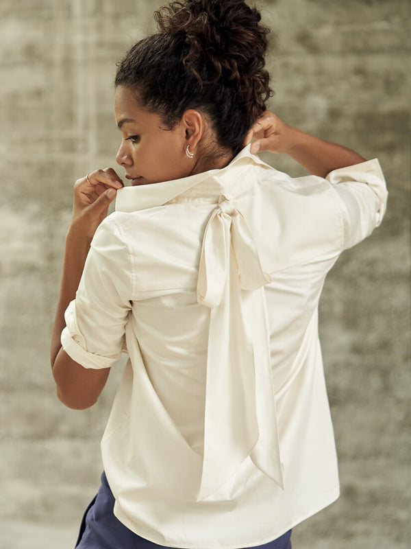 SETERY Blouse with a bow