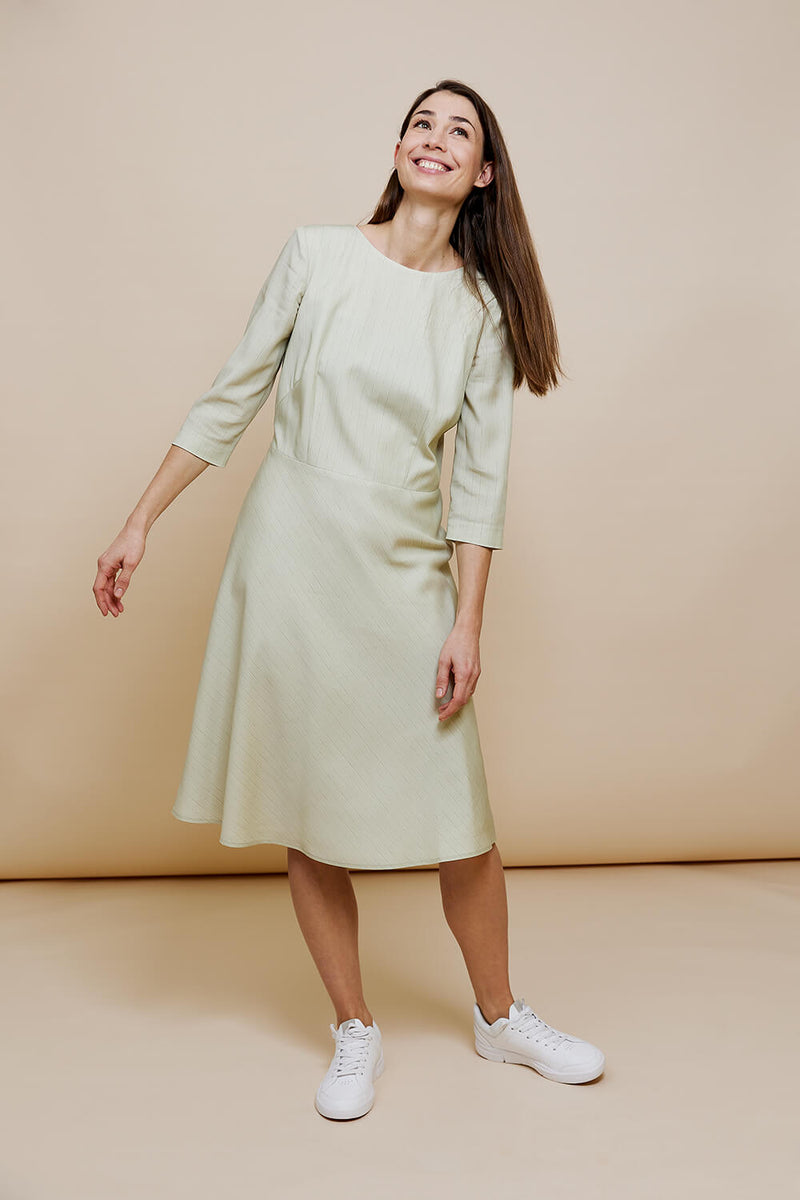 SONJA - Art Dress in Pistachio Creme