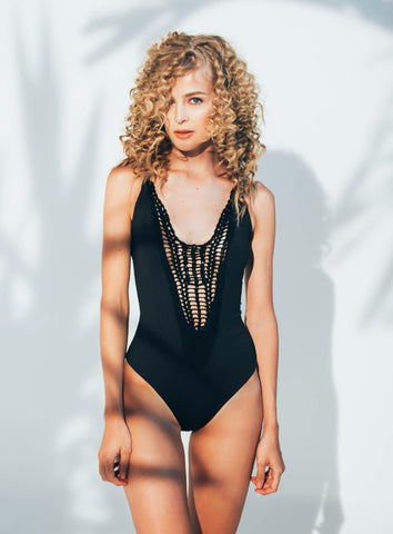 Ellena Maillot in Black
