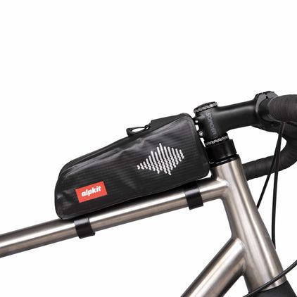 Alpkit touko waterproof top tube bag in black