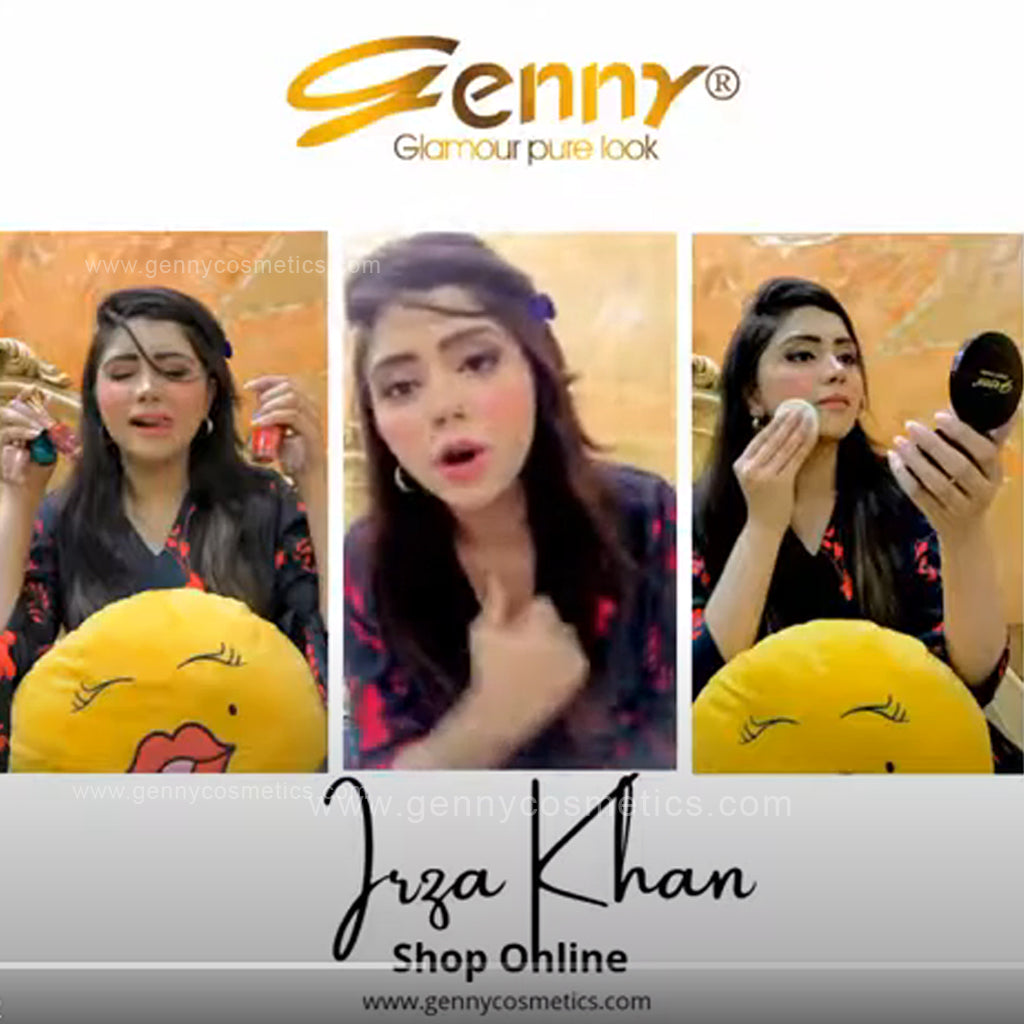 Irza Khan Famous Pakistani News Anchor Using Genny Cosmetics