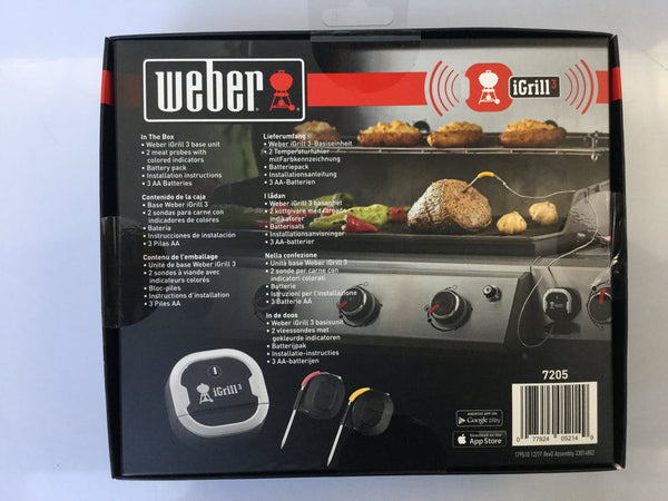 Weber iGrill3 Bluetooth Thermometer 7205