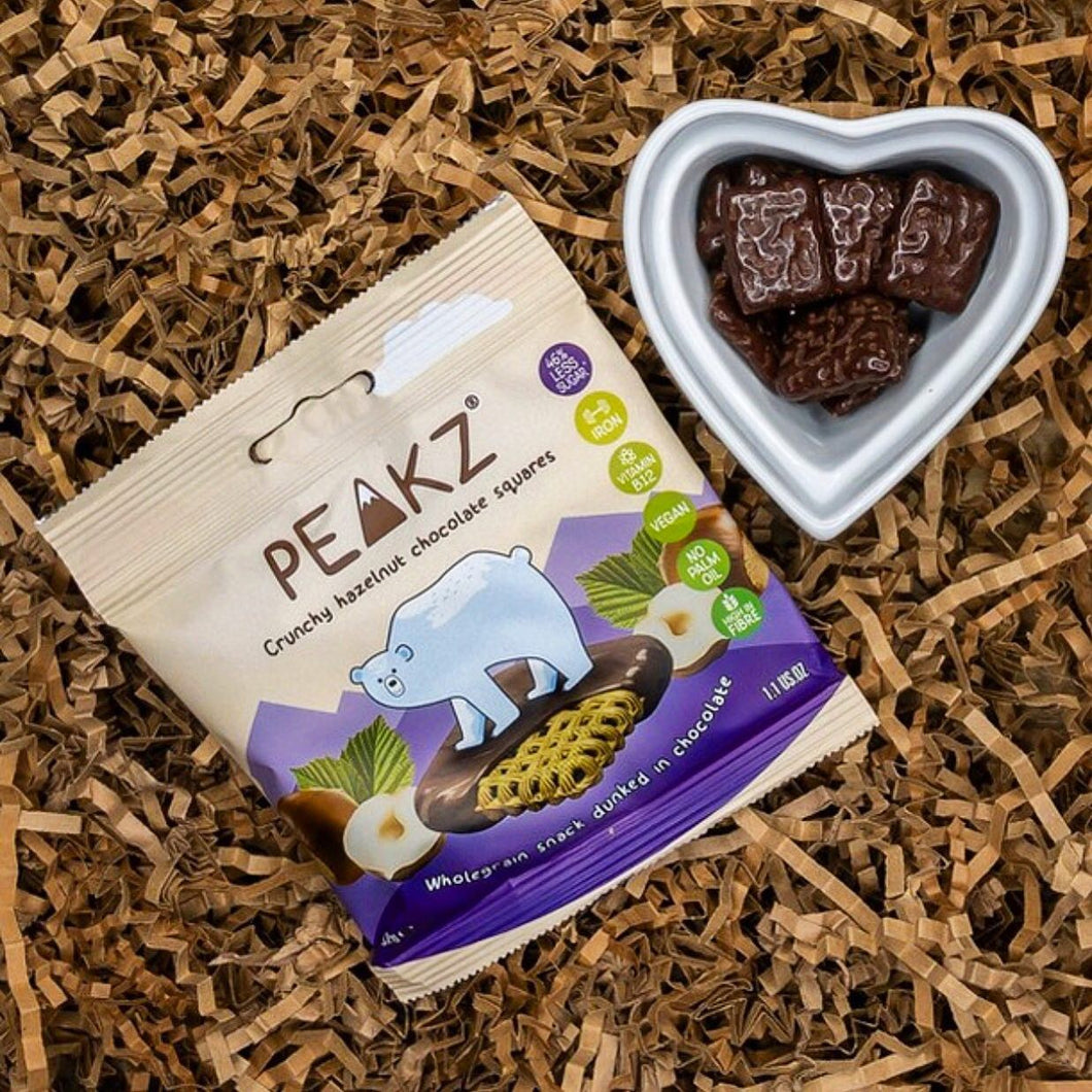 Peakz Hazelnut Chocolate Squares